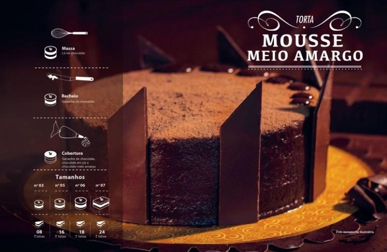 Torta Mousse Meio Amargo